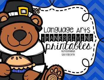 Thanksgiving Language Arts Printables for Nonfiction and F