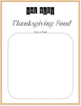 Thanksgiving Language Arts & Writing Bundle