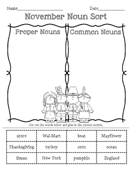 Thanksgiving Language Arts morning work (nouns, verb tense, & prefixes)