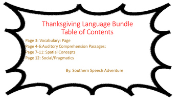 Thanksgiving Language Bundle