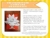 Thanksgiving Language Craftivity