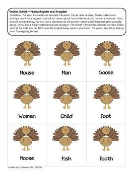 Thanksgiving Grammar & Language!