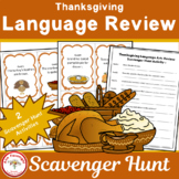 Thanksgiving Language Review Scavenger Hunt
