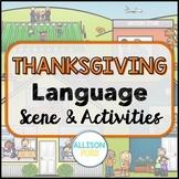 Thanksgiving Language Scene Speech Therapy