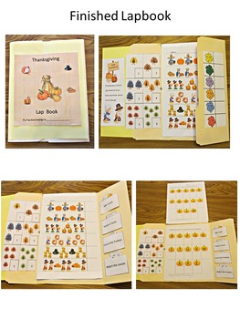 Thanksgiving Lapbook Interactive, Preschool, Kindergarten, Special Education