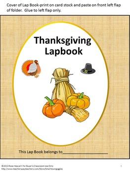 Thanksgiving Lapbook Math & Literacy Interactive Notebook