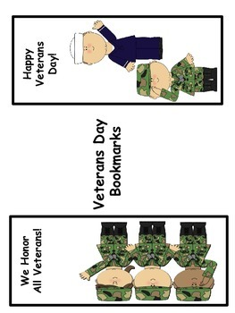 Veterans Day Large Bookmarks