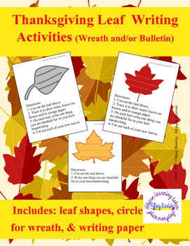 We are Thankful! Thanksgiving Leaf Writing Activities