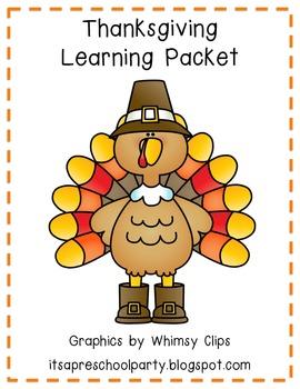 Thanksgiving Learning Packet