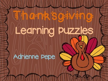 Thanksgiving Learning Puzzles