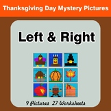 Thanksgiving: Left & Right side - Color by Emoji - Mystery