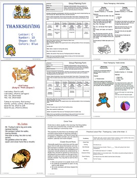 Thanksgiving Lesson Plan