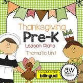 Thanksgiving Lesson Plans Thematic Unit Pre-K English Span