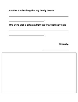 Thanksgiving Letter