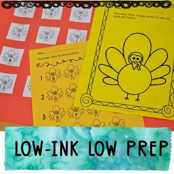 Thanksgiving Letter Activities   Thanksgiving Alphabet Activities   LOW INK