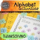 Thanksgiving Letter Activities | Thanksgiving Alphabet Act