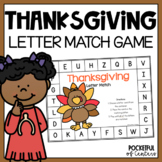 Thanksgiving Letter Match Game {FREE}