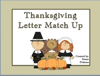 Thanksgiving Letter Match Up