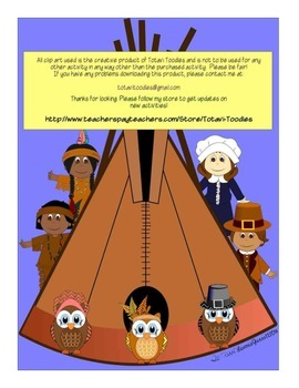 Thanksgiving Letter Matching *Game*Activity*Worksheets