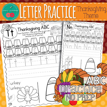 Thanksgiving Letter Practice