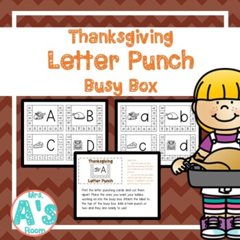 Thanksgiving Letter Punch Busy Box