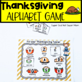 Thanksgiving Letter Recognition Game- Literacy Center