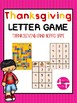 Thanksgiving Letter Recognition Games Bundle