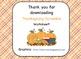 Thanksgiving Letter Scramble
