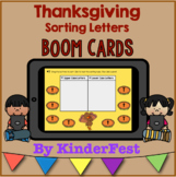 Thanksgiving Letter Sorting Boom Cards