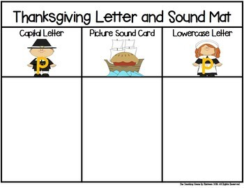 Thanksgiving Letter & Sound Match