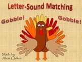 Thanksgiving Letter Sounds Center Game