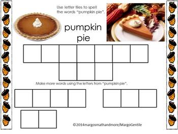 Thanksgiving Letter Tile Fun