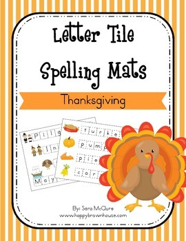 Thanksgiving Letter Tiles Spelling Mat