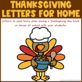 Thanksgiving Letter to Parents