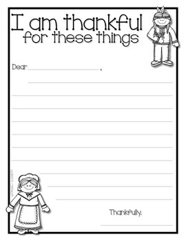 Thanksgiving Letter Writing Activity *FREEBIE*