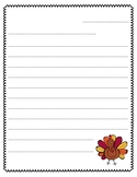 Thanksgiving Letter Writing Paper (Thankful, Turkey Paper)