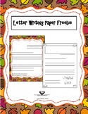 Thanksgiving Letter Writing Papers Freebie