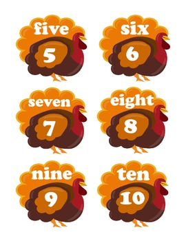 Thanksgiving Letter and Number Matching Game!