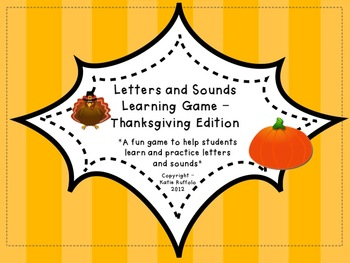 Thanksgiving Letter and Sounds Game