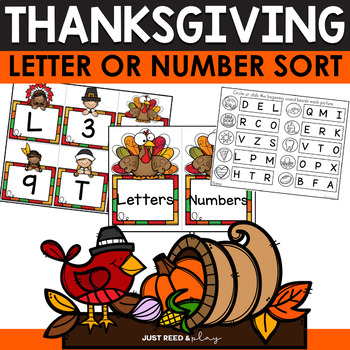 Thanksgiving Letter or Number Sort