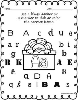 Thanksgiving Letter recognition - bingo dab activity