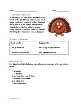 Thanksgiving Letter to an Adult