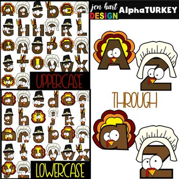 Alphabet Letters Clip Art - Thanksgiving Turkey Letters {jen hart Clip Art}