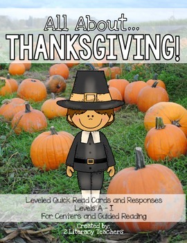 Thanksgiving! Leveled Quick Read Cards and Response Activities