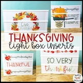 Thanksgiving Light Box Inserts - Heidi Swapp or Leisure Arts