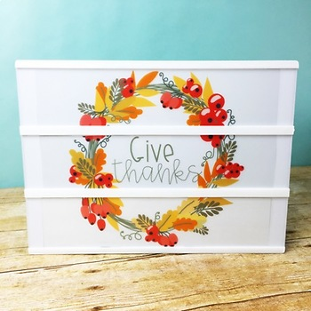 Thanksgiving Light Box Inserts - Heidi Swapp or Leisure Arts