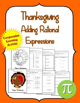 Thanksgiving Like bases Rational Expressions Cooperative Learning