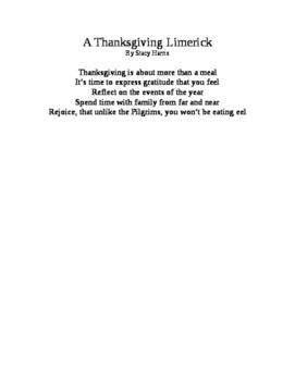 Thanksgiving Limerick Poem