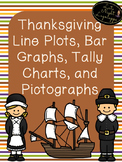 Thanksgiving Line Plots, Tally Chart, Bar Graph, Pictographs