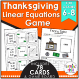 Thanksgiving Linear Equations Game